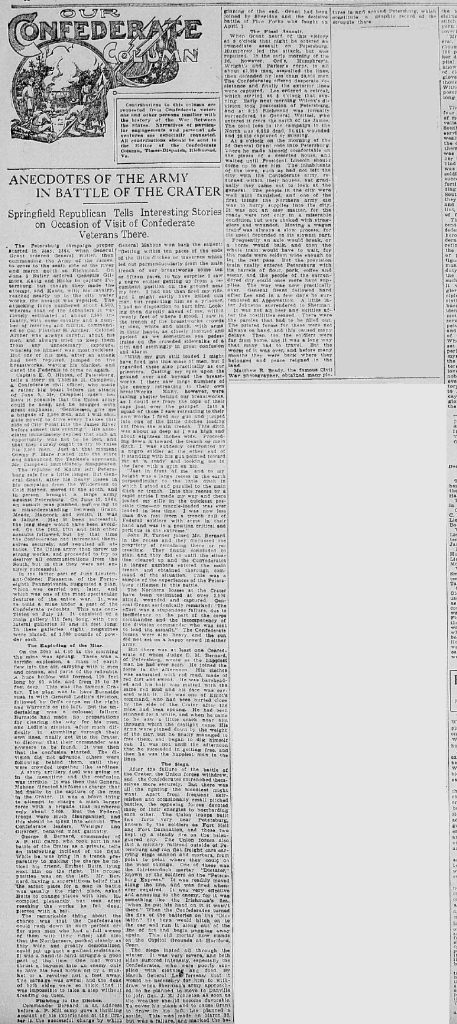 19100724RichmondTimesDispatchSAP3C1to4CraterAnecdotes