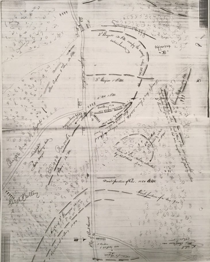 Horace P. Rugg Court Martial Burgess Mill Map