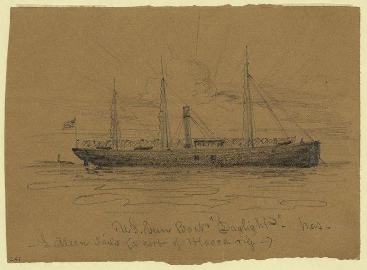 "20331v: U.S. Gun Boat ""Daylight""."