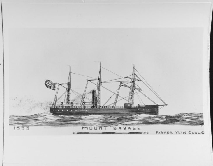 NH 66993: Steamship Mount Savage, later USS Mystic