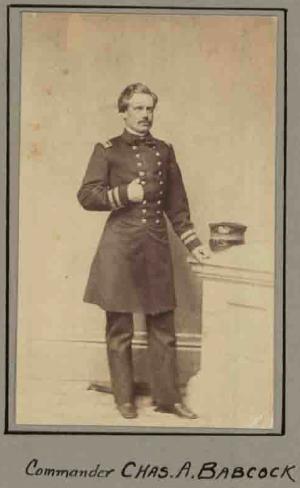 Charles A. Babcock, US Navy, Captain of the USS Morse. (MOLLUS Vol. 109, Page 5623)