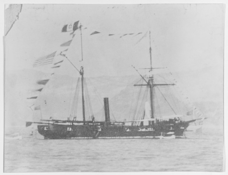 NH 53408: USS Huron (1862-1869).