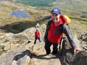 A mountain skills course hill walking in Snowdonia