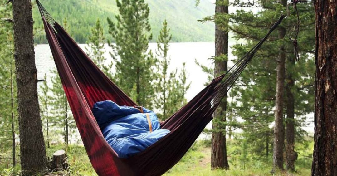 hammock camping in the rain