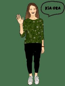 Speech Language Therapist Beth Waving-illustration