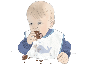 Speech Language Therapy Resource Image, Baby Eating