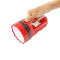 Push Thumb Switch Pocket Flashlight On White Background