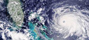Hurricane Dorian Approaching the Bahamas - Photo by MODIS / Terra satellite data
