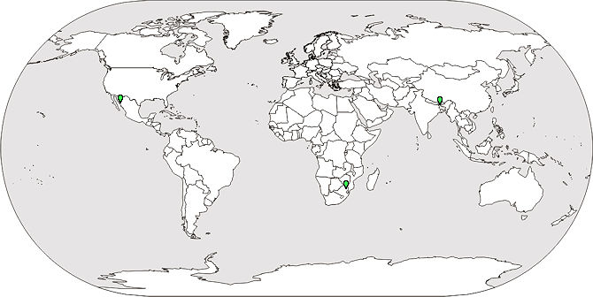Map of Birds Identified