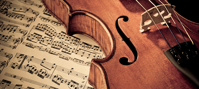 Violin and Sheet Music - Photo by Ky0n Cheng