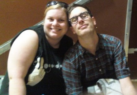 Me with the lead singer of Hellogoodbye