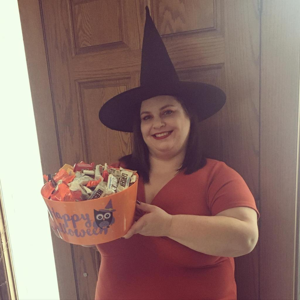 Jessica Kuehn as a witch