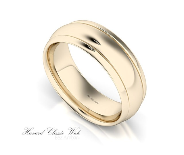 Mm Mens Yellow Gold Wedding Band