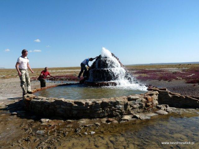 Święta fontanna niedaleko Aralska