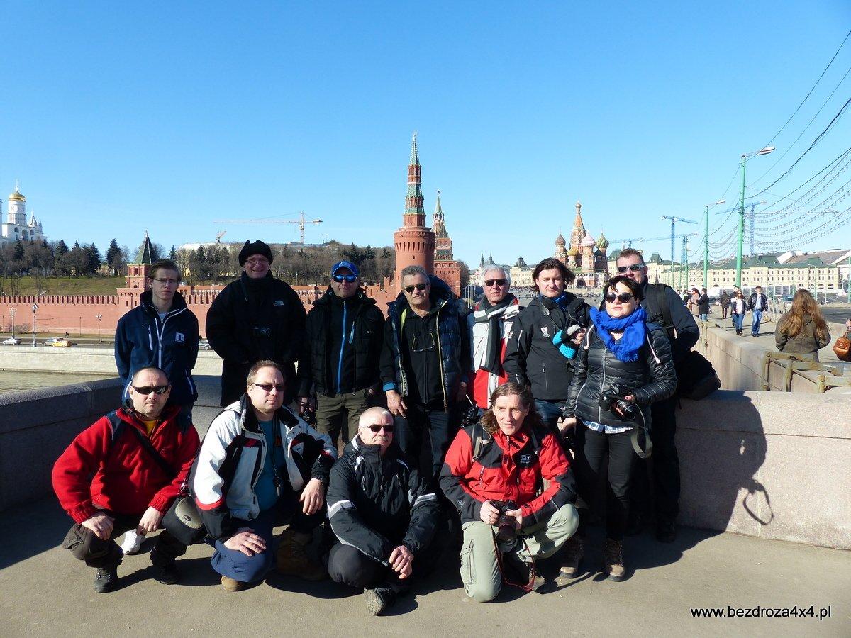 Ekipa przed Kremlem