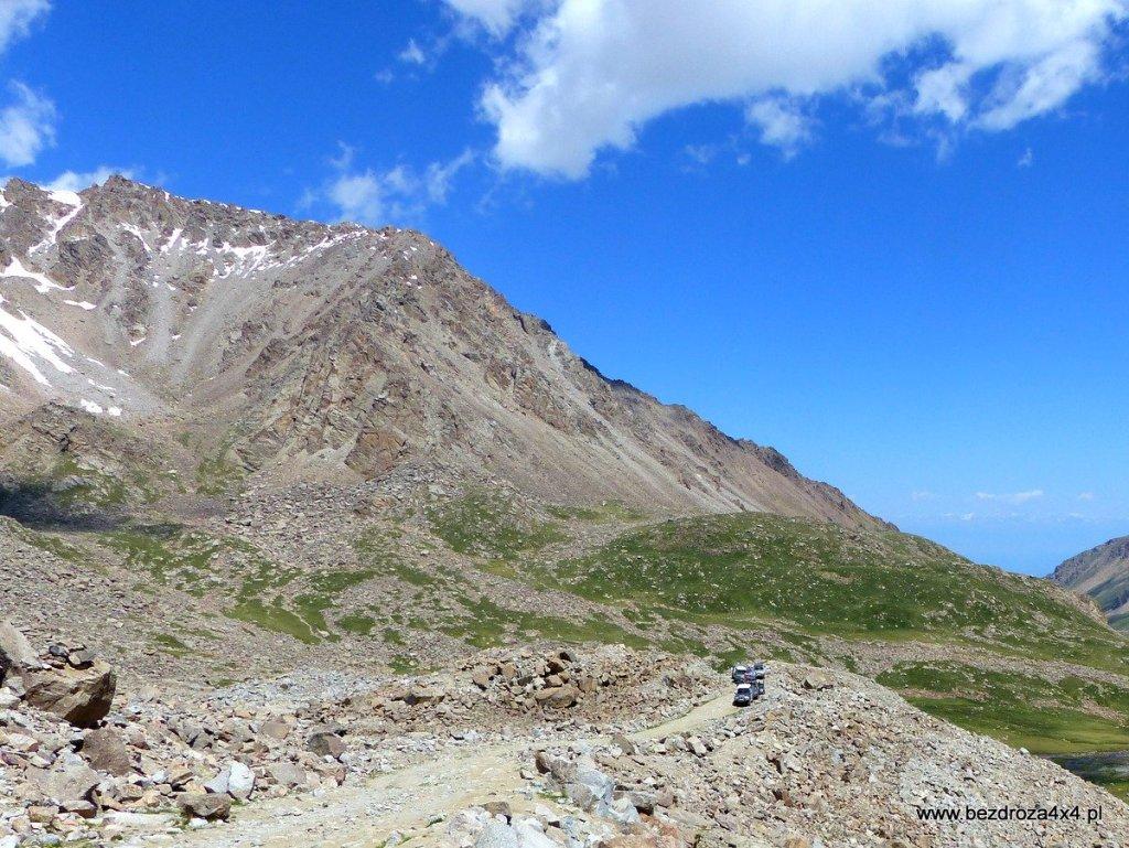 Trasa w górach Tien Shan
