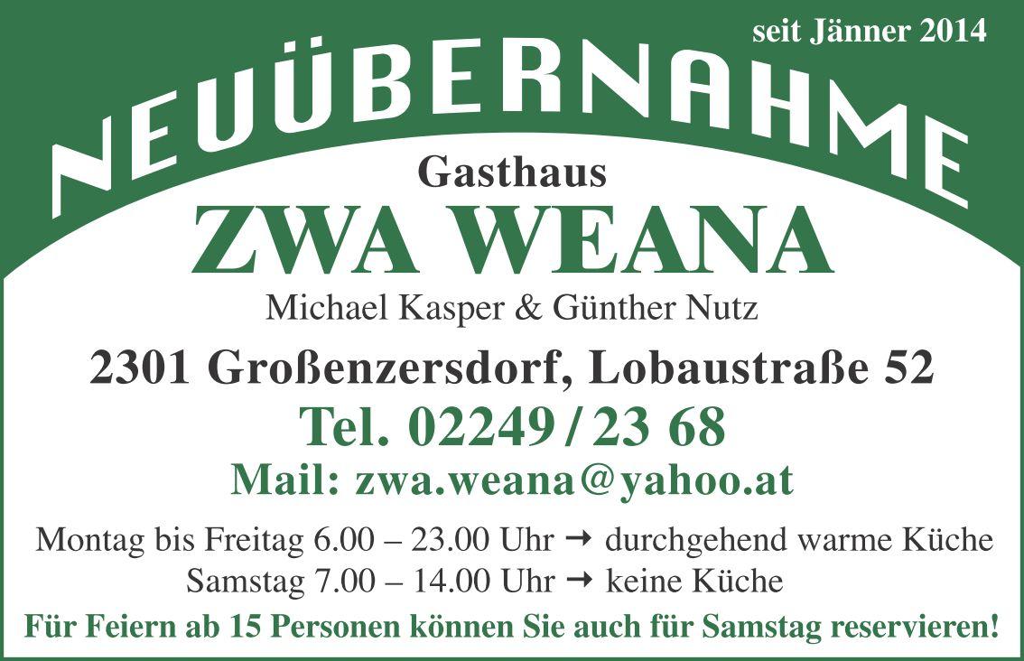 © Gasthaus ZWA WEANA