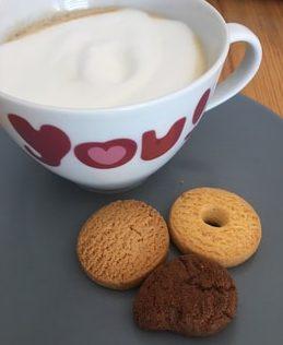 káva a sušienky