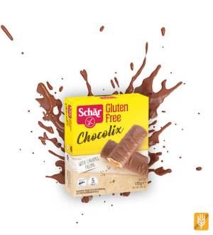 Chocolix - karamelové tyčinky máčané v mliečnej čokoláde