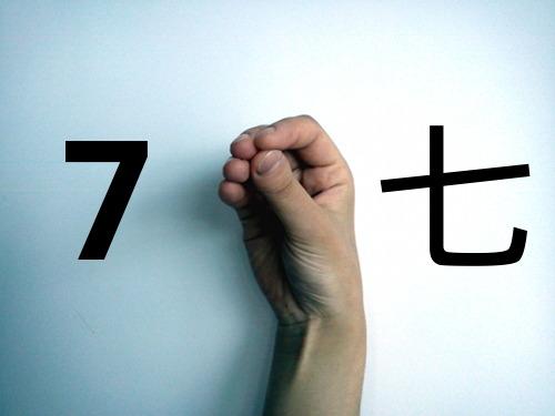 Zo tellen Chinezen zeven met hun vingers