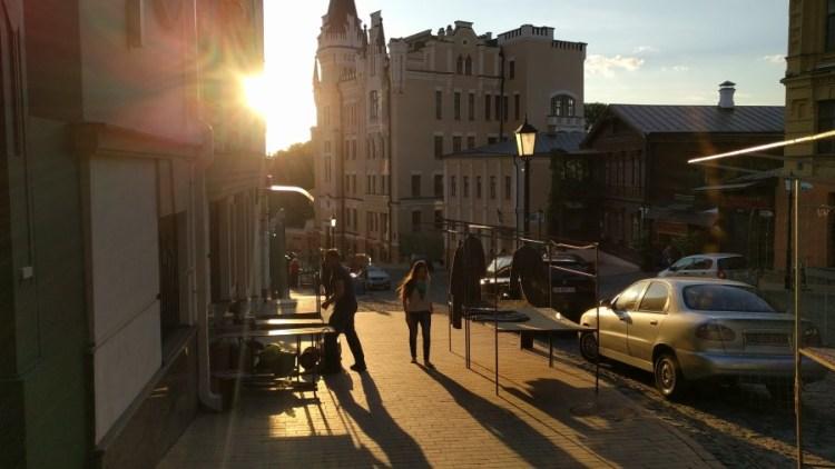 Andrejevski straat- Bezoek Kiev