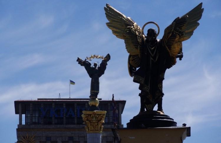 Maidan Nezalezhnosti plein met beelden - Bezoek Kiev