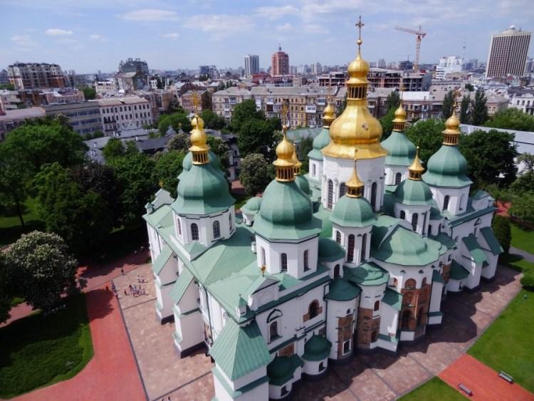 Sint Sofiakathedraal luchtfoto - Bezoek Kiev