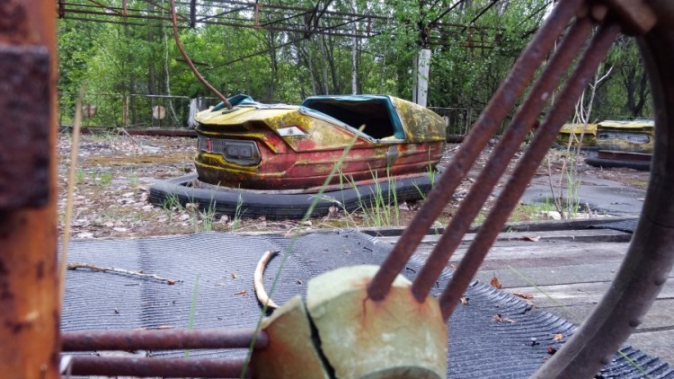 Tjernobyl kermis botsauto - Bezoek Kiev