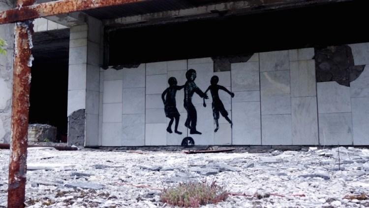 Tjernobyl graffiti - Bezoek Kiev