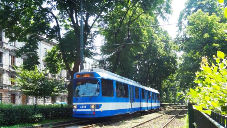 Tram in Krakau