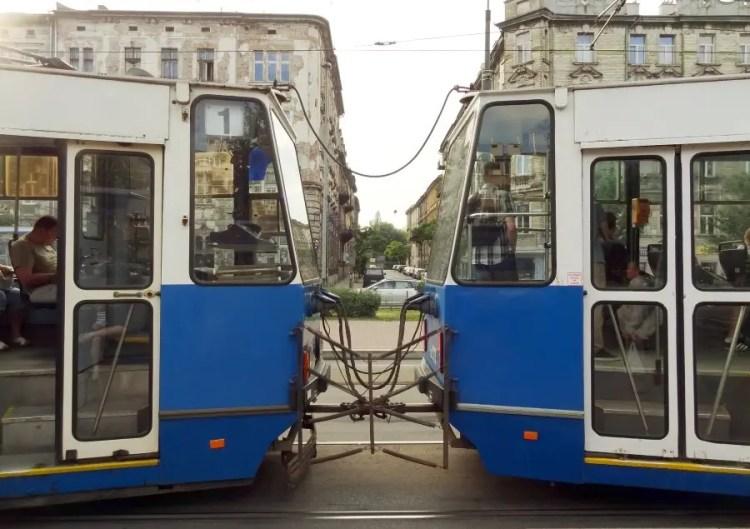 Tram bus trein - Bezoek Krakau
