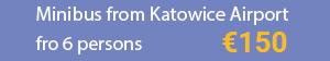 Minibus Katowice Airport to Cracow