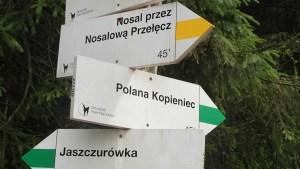 Tatragebergte - routes in kleuren