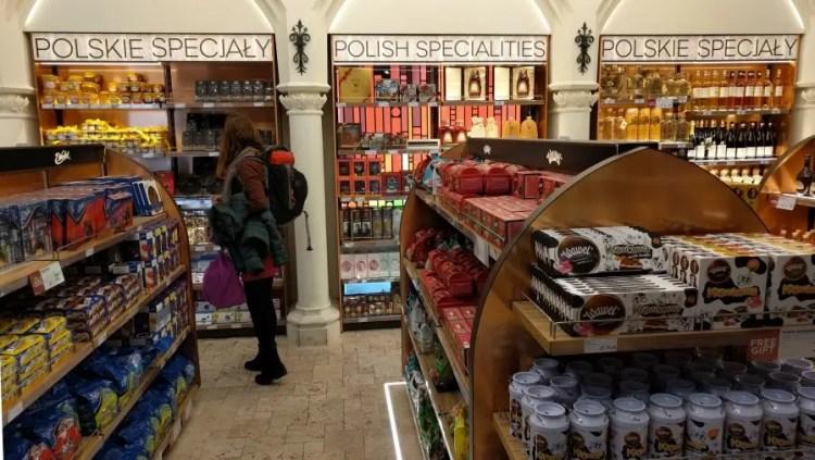 Markt en shoppen in Krakow, Polen