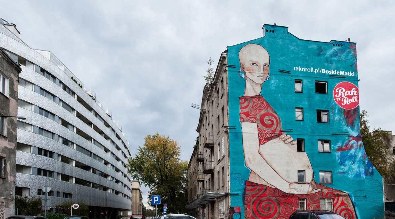 boskie matki mural na woli rak'n'roll