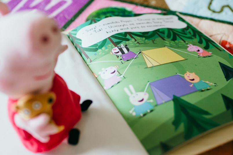 książki świnka peppa naklejki