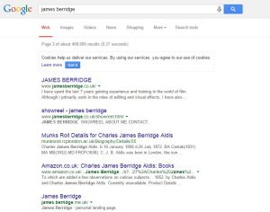 I searched for myself in Google to find a brand new website already on page 3.
