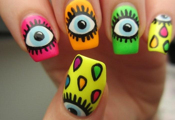 Diseño De Uñas Con Ojos