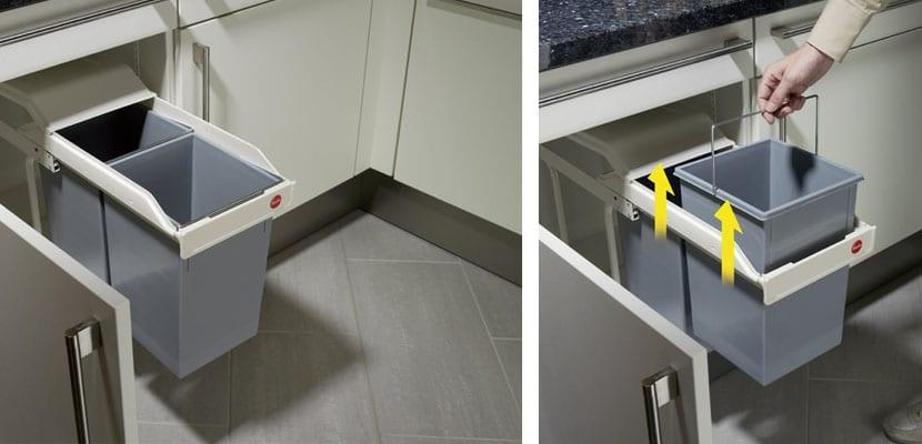 Soluciones para organizar la basura en la cocina