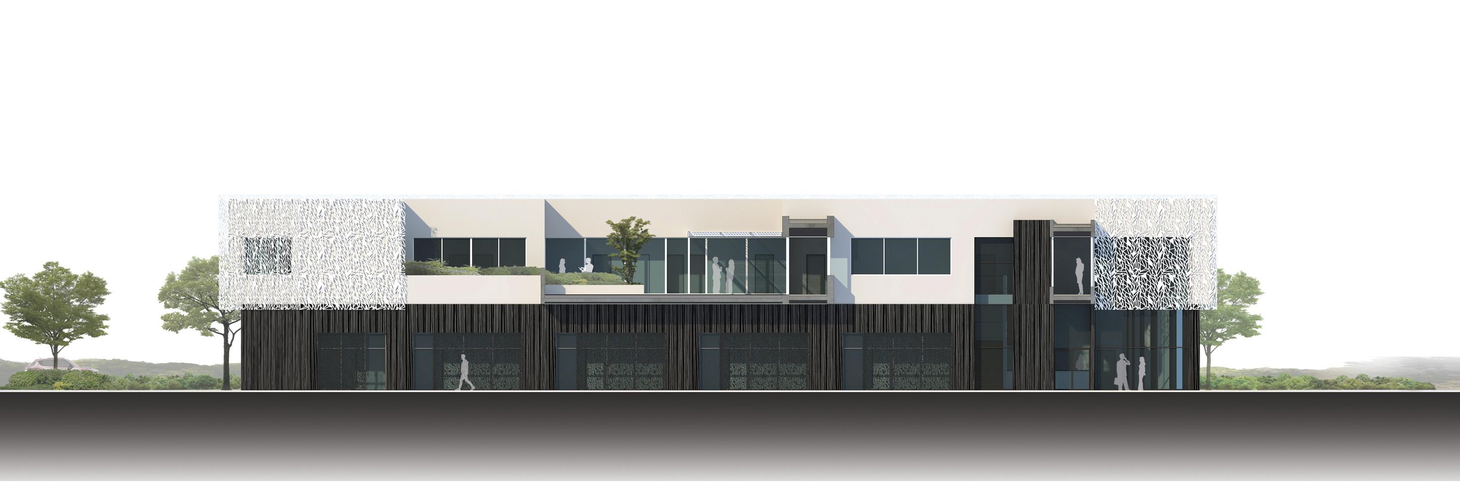 Coupe Pépinière entreprises Heliope bf architecture 6