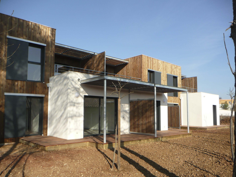 Maison mitoyenne ossature bois Hérault BF Architecture 2
