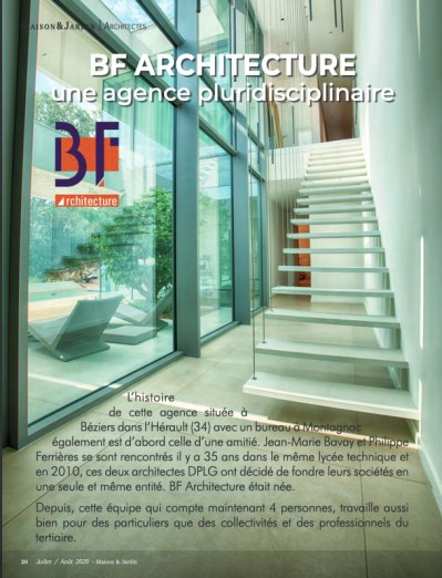 Parution Maison & Jardin BF Architecture 2
