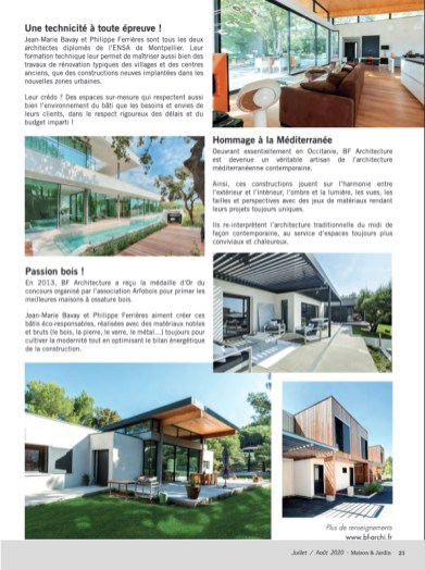 Parution Maison & Jardin BF Architecture 3
