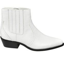 witte chelsea boot