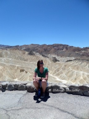 Enjoying the hotness of Death Valley