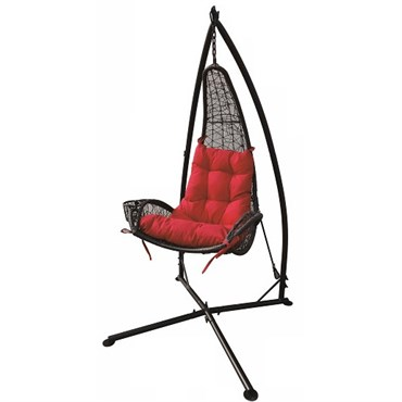 wicker hammock chair tall table and chairs for kitchen ddi red w cupholder bfg supply