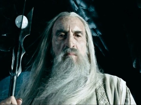 Christopher Lee als Saruman in the Lord of the Rings- & Hobbit-films