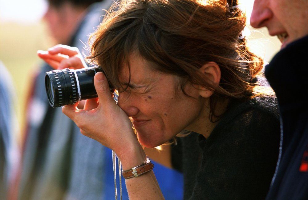 Beeban Kidron filming Bridget Jones: The Edge of Reason (2004)