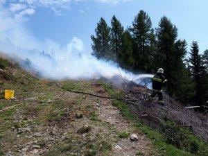 Beginnender Waldbrand am Goldeck