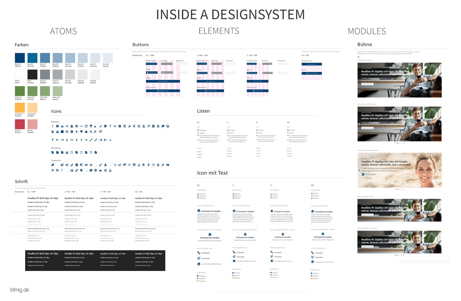 Design system excerpt